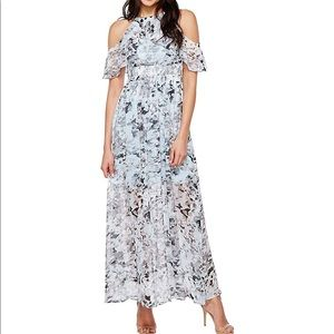 Vince Camuto Print Shoulder Maxi dress size 4